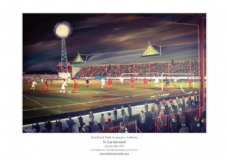 Bradford Park Avenue v Fulham FA Cup 3rd Round 1967 unframed A3 Print